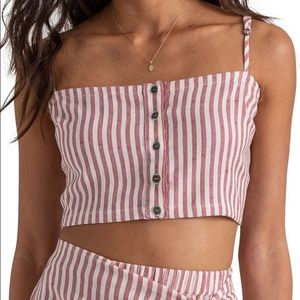 billabong Sincerely Jules Straight to It Crop Top